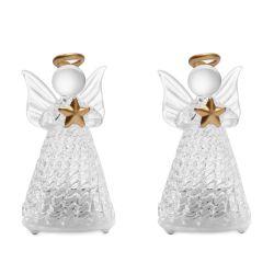 figuras de ángeles con luz para Navidad
