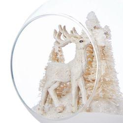 bola para el árbol de Navidad con ciervo y luz