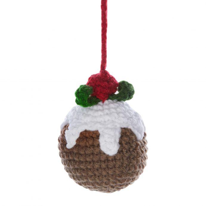 decoración para el árbol de Navidad en crochet de diseño