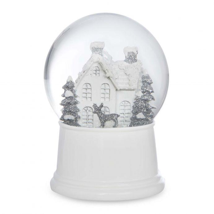 bola de nieve con luz decoración para Navidad