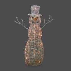 gran muñeco de nieve luminoso para Navidad