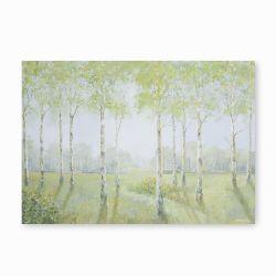 cuadro con paisaje de árboles verdes de diseño