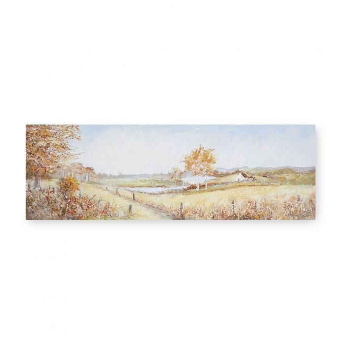 cuadro con paisaje de campo en otoño de diseño