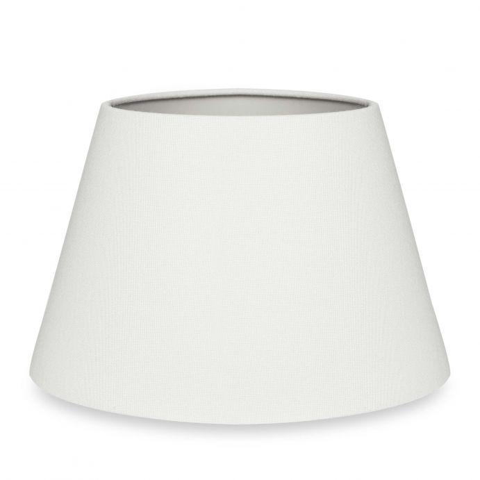 pantalla para lámpara lisa color blanco natural