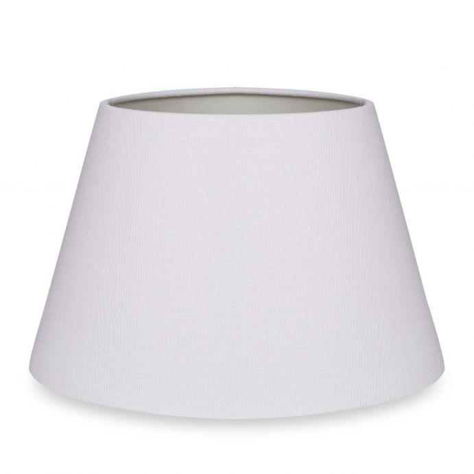 pantalla para lámpara lisa color gris plata suave