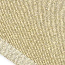 mantel dorado para decorar la mesa en navidad