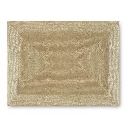 manteles dorados para decorar la mesa en Navidad