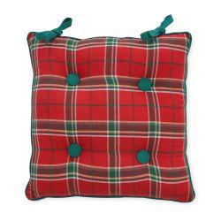 cojín de cuadros rojos y verdes, ideas de regalo para decorar eb Navidad