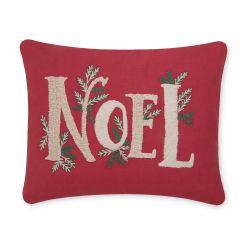 cojín con nombre Noel bordado, ideas de regalo para decorar en Navidad