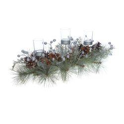 decoración para la mesa de Navidad de diseño con estilo