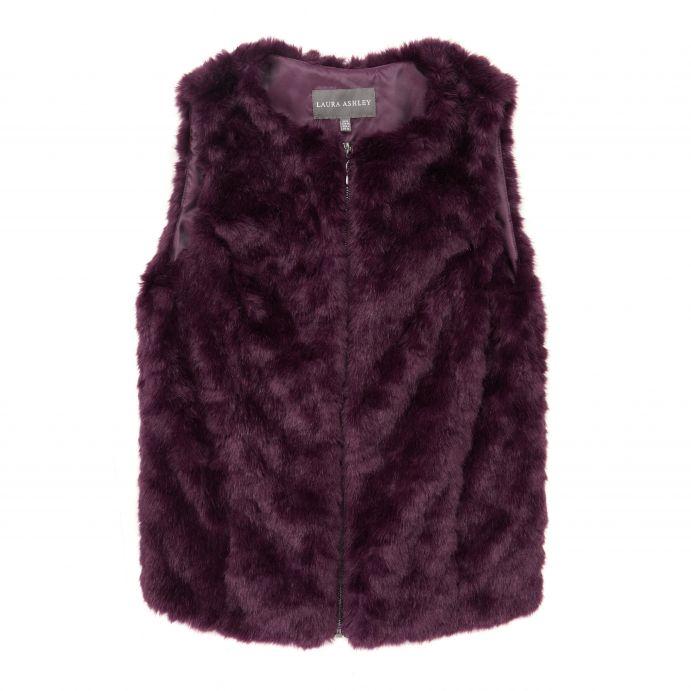 chaleco de pelo morado de diseño ideal para invierno