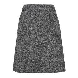 falda de lana gris y blanco de diseño