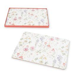 4 salvamanteles de corcho con estampado de flores para mesas de diseño