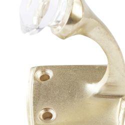 pareja de colgadores de pared dorados con detalles de cristal muy elegante
