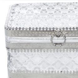 caja de cristal con tapa, tipo joyero, ideal para regalar