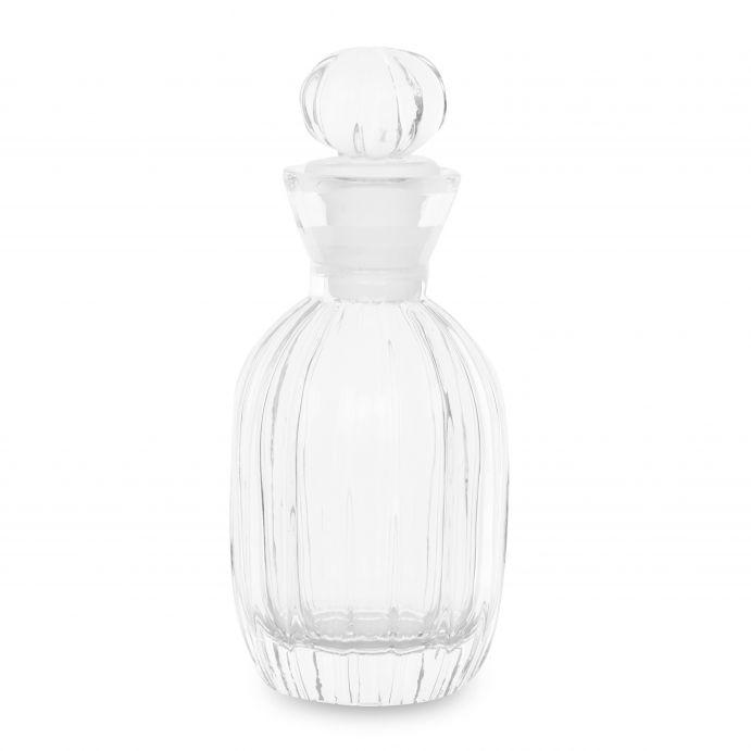 botella decorativa tipo perfume de cristal