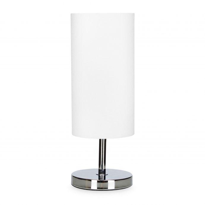 lámpara de mesa en cilindro color blanco natural de diseño