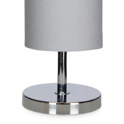 lámpara de mesa en cilindro color gris pizarra de diseño