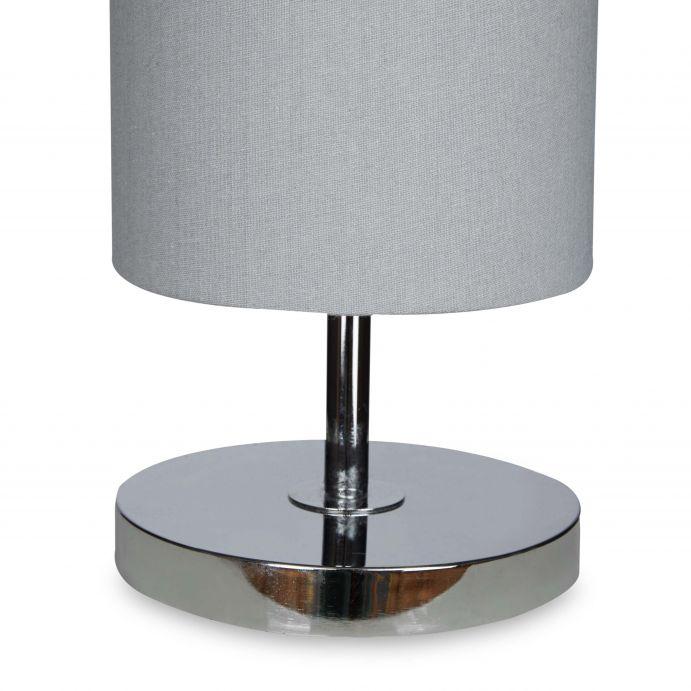 lámpara de suelo en cilindro color gris pizarra de diseño