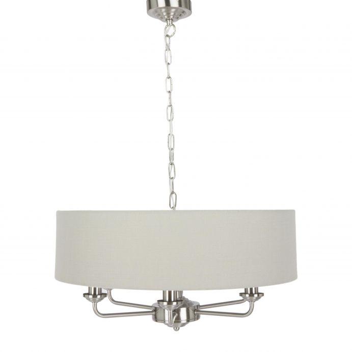 lámpara de techo de pantalla redonda y diseño de araña, elegante y clásica