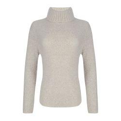 jersey mezcla de lana suave en marfil natural