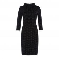 vestido negro cuello bardot y lunares mini, little blacj dress