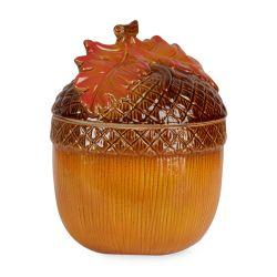 bote de galletas cerámico con forma de bellota