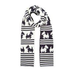 bufanda de perritos scotty en blanco y negro