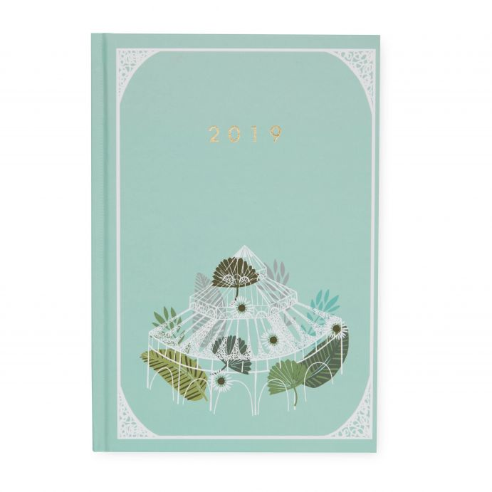 agenda 2019 azul verdoso de diseño