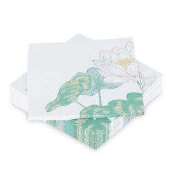pack de 50 servilletas de papel Waterlilies
