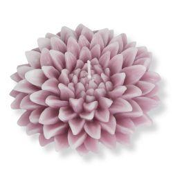 vela con forma de flor rosa de diseño
