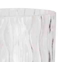 jarrón de cristal de diseño ondulado irregular