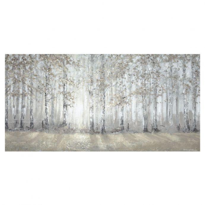 cuadro con imagen de bosque de diseño