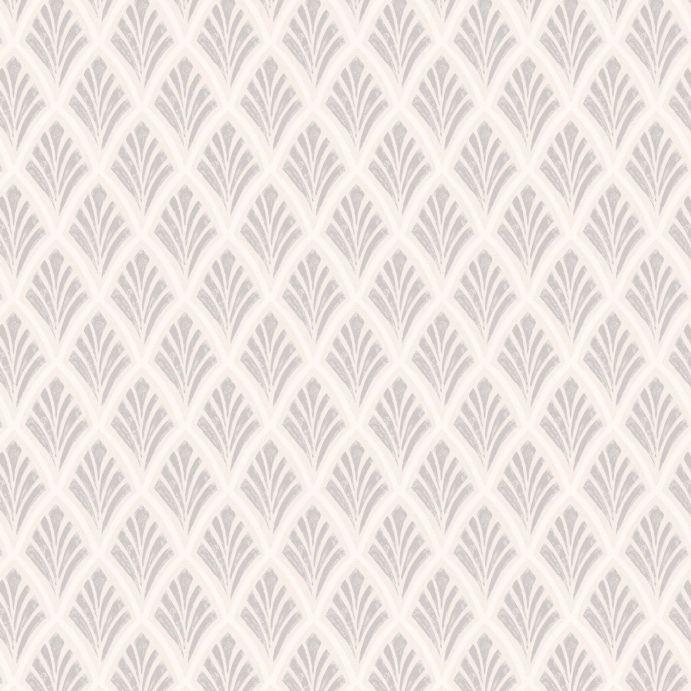 papel pintado de estilo art decó de diseño con estampado en gris