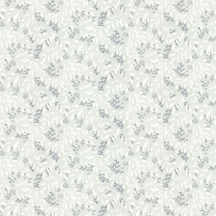 papel pintado estampado con pequeñas hojas en tonos grises y blancos de diseño