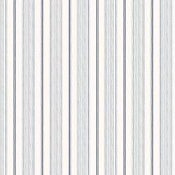 papel pintado estampado con rayas de diseño clásico en color azul