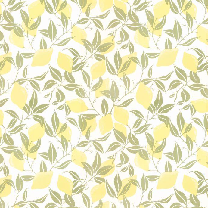 papel pintado estampado con limones amarillos de diseño