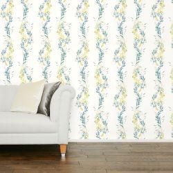 papel pintado Floral Stripe gris verdoso PTW