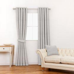 tela lisa con trama de color gris acero de diseño
