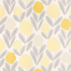 tela de flores amarillas ideal para cortinas y estores de diseño