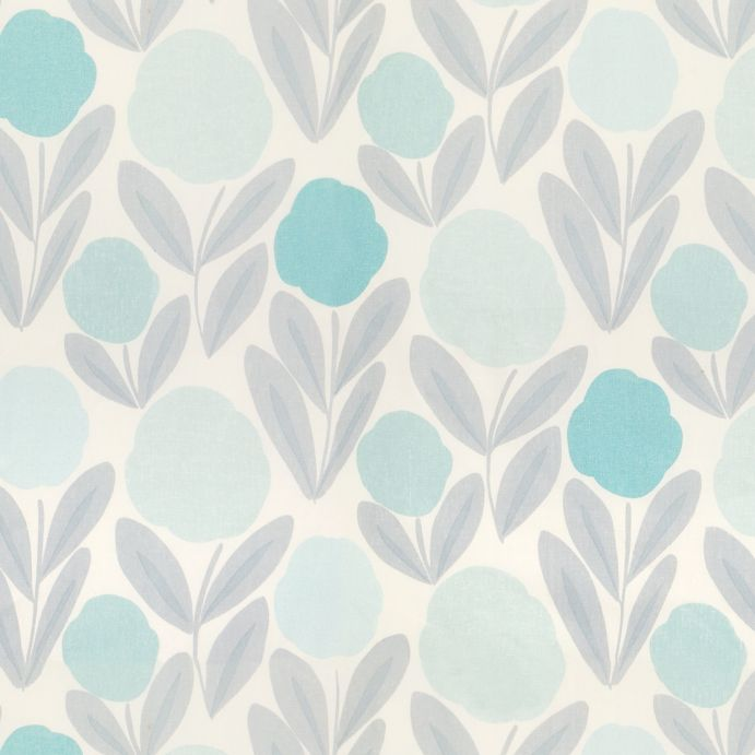 tela de flores azules ideal para cortinas y estores de diseño