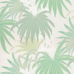 tela de hojas de palmera verdes ideal para cortinas y estores de diseño