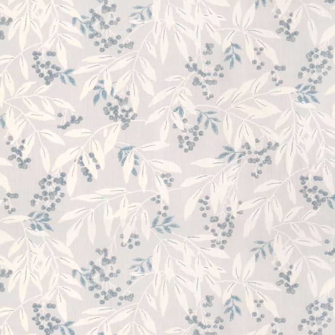 tela de flores y hojas en tonos grises ideal para cortinas y estores de diseño