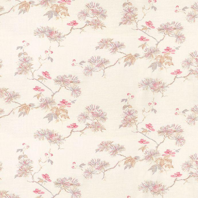 tela de flores pequeñas estilo oriental ideal para cortinas y estores de diseño