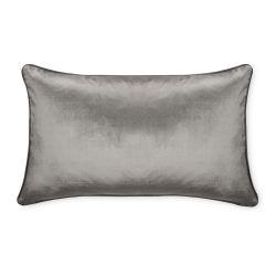 cojín rectangular de terciopelo de color gris de diseño