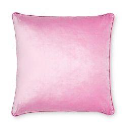 cojín cuadrado de terciopelo de color rosa fucsia de diseño