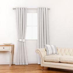 tela de rayas gris y blanco para cortinas de diseño