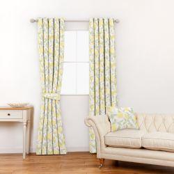 tela de limones amarillos ideal para cortinas y estores de diseño