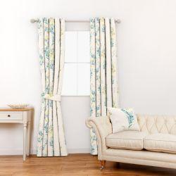 tela estampada con cadeneta de flores ideal para cortinas y estores de diseño