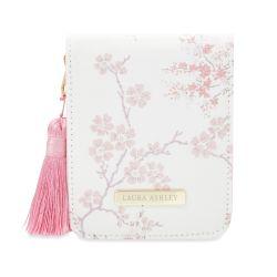 estuche de manicura con diseño de flores rosas